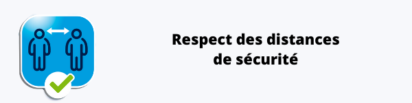 respecter la distanciation d'1m5